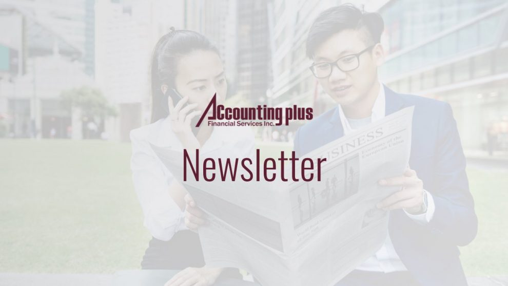 Accounting Plus - Newsletter Edition