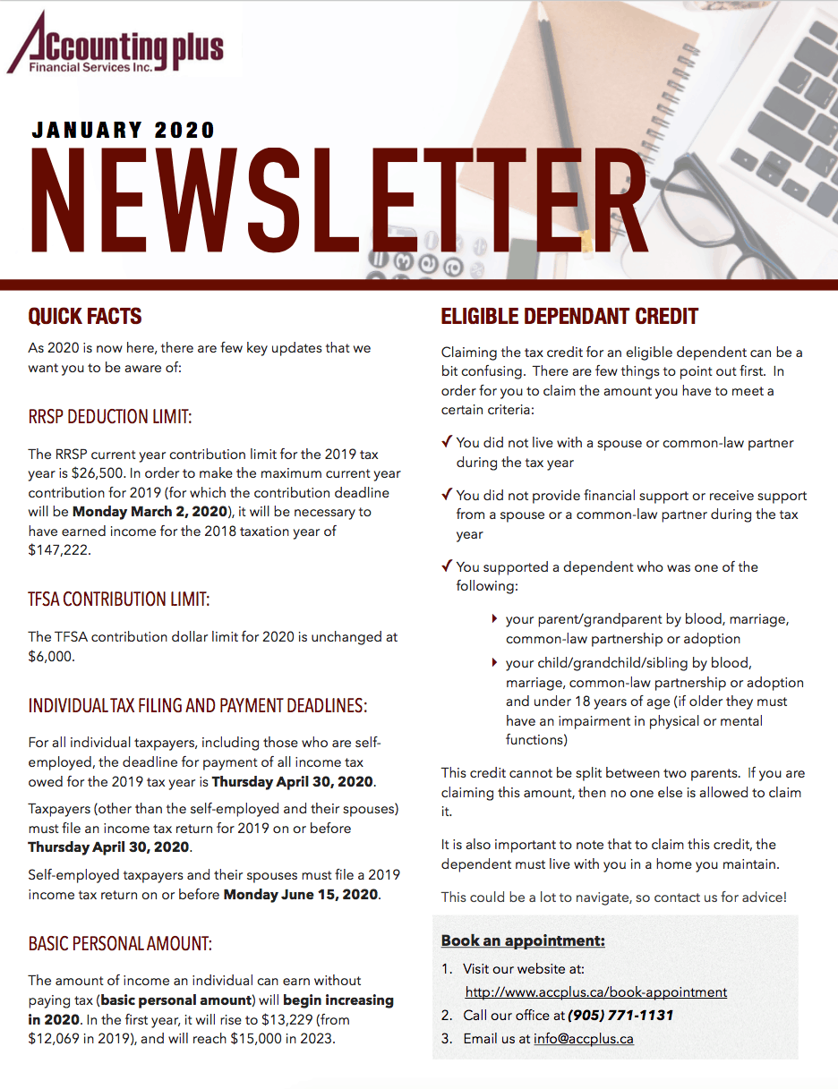 January 2020 Newsletter Accounting Plus