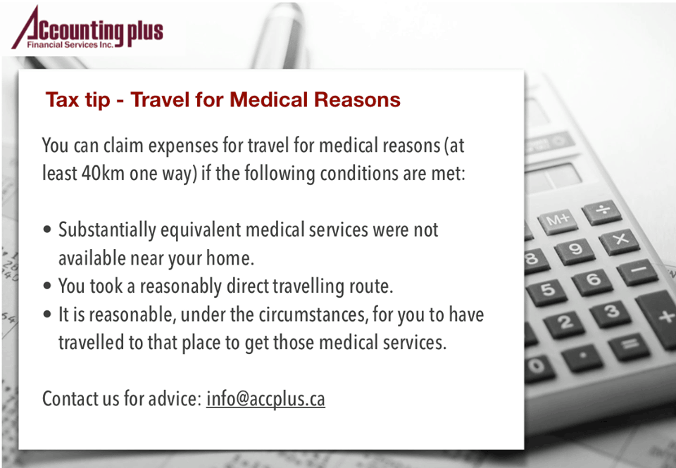 Tax Tip - Travel For Medical Reasons
