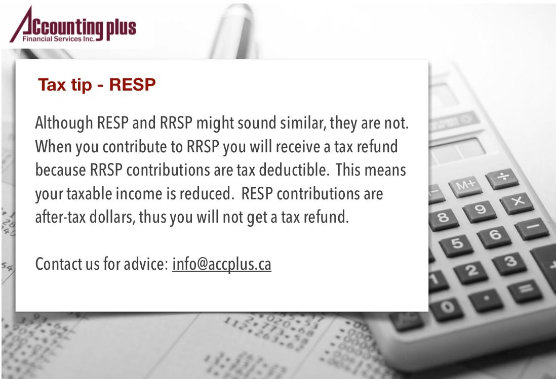 Tax Tip RESP