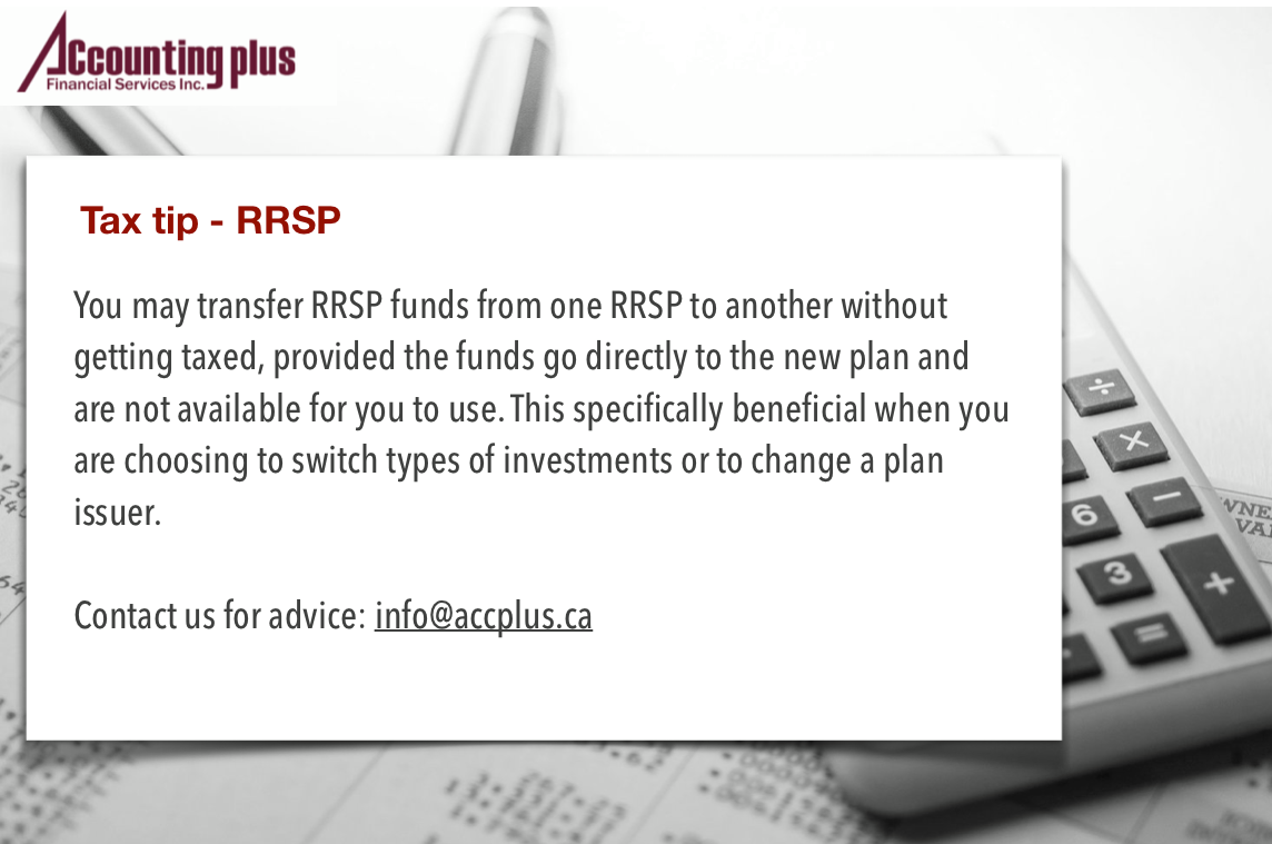 Tax Tip - RRSP Transfer