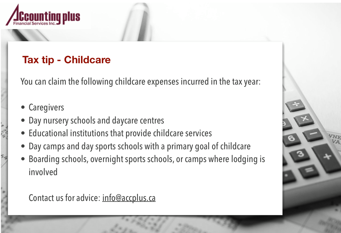 Tax Tips - Childcare