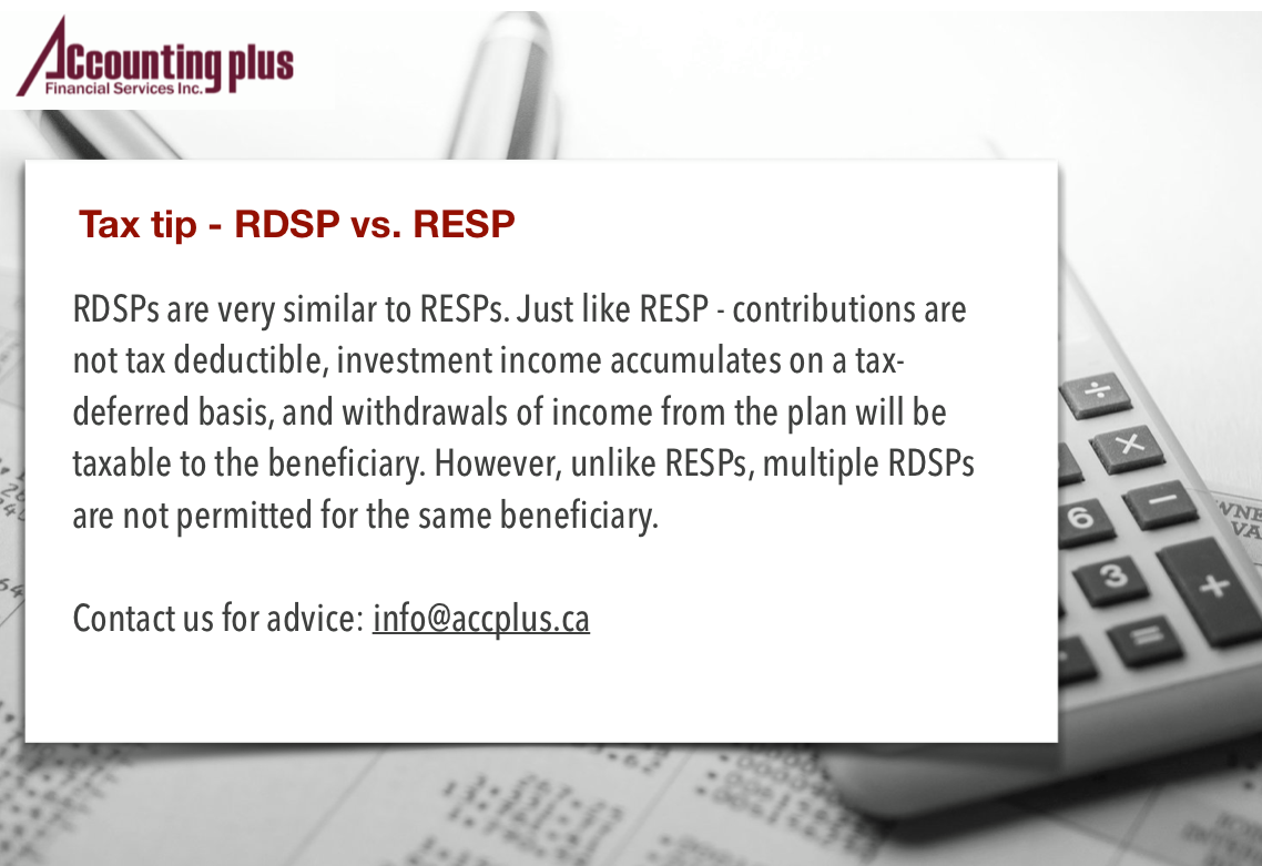 Tax Tips - RDSP vs RESP