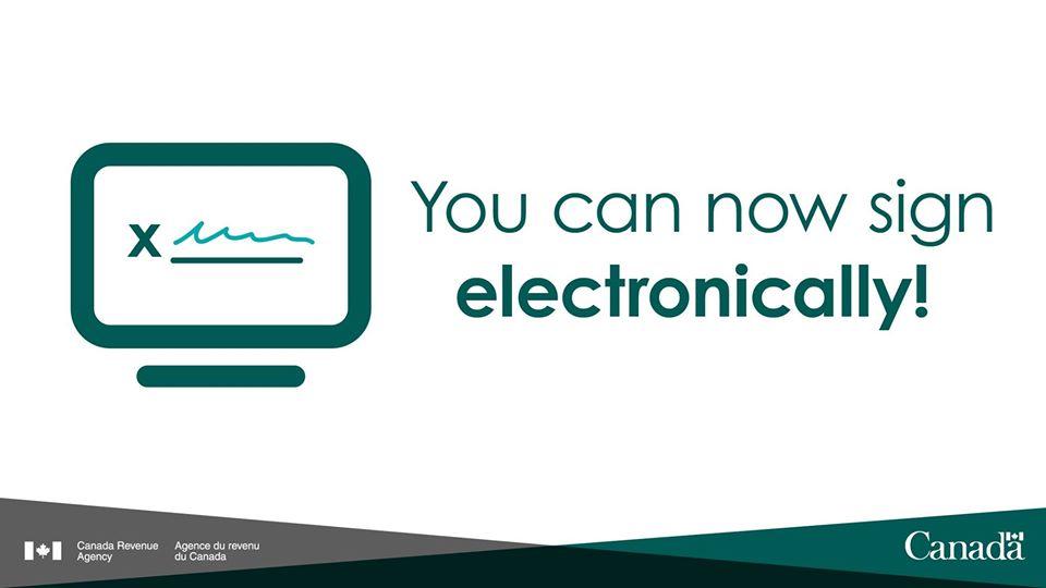 electronic signature CRA