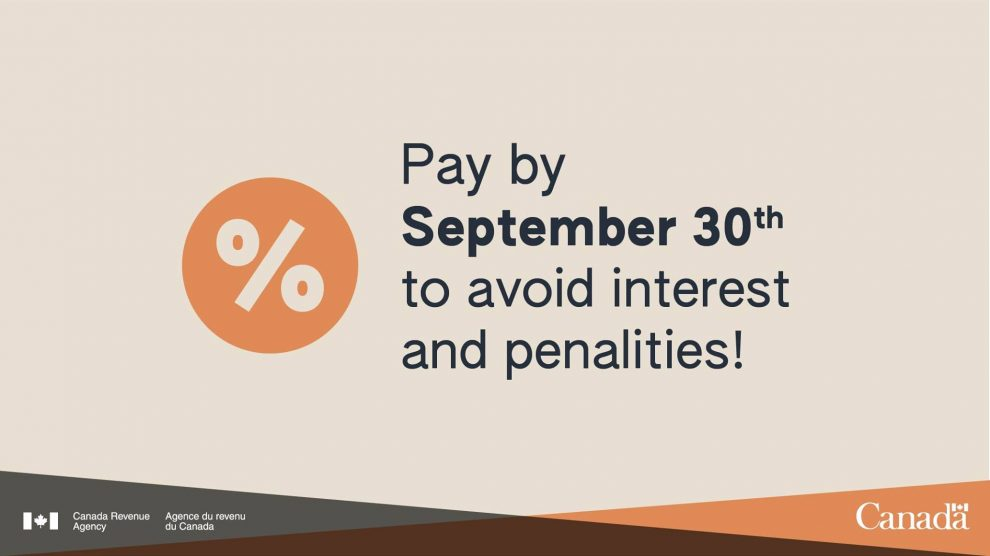 Payment Due Sep 30