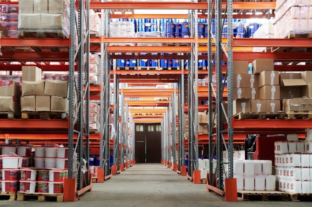 A warehouse with inventory