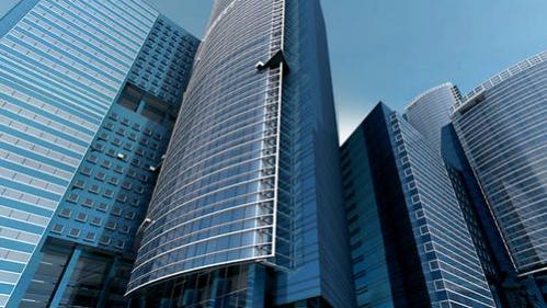 multiple corporate skyscrapers