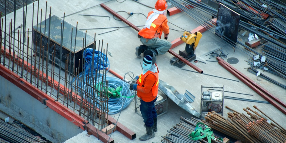 people working on a construction site